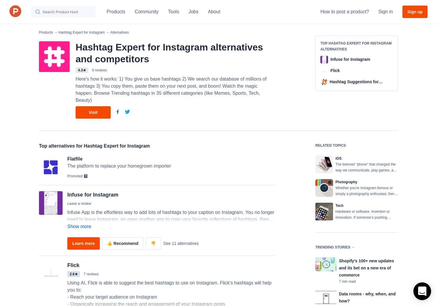 11 Alternatives to Hashtag Expert for Instagram for iPhone