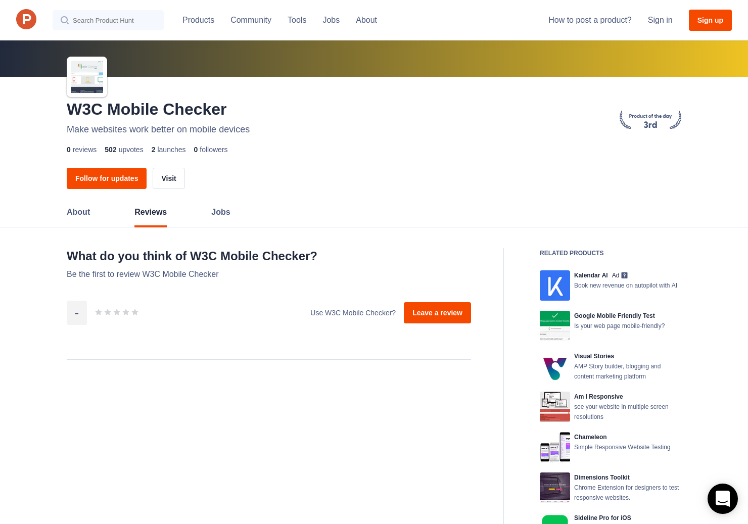 W3C Mobile Checker Reviews - Pros, Cons and Rating   Product