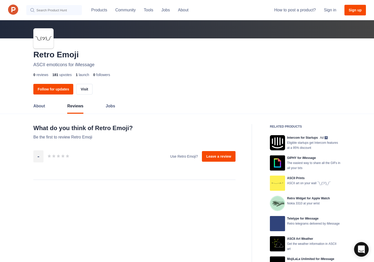 Retro Emoji Reviews - Pros, Cons and Rating   Product Hunt
