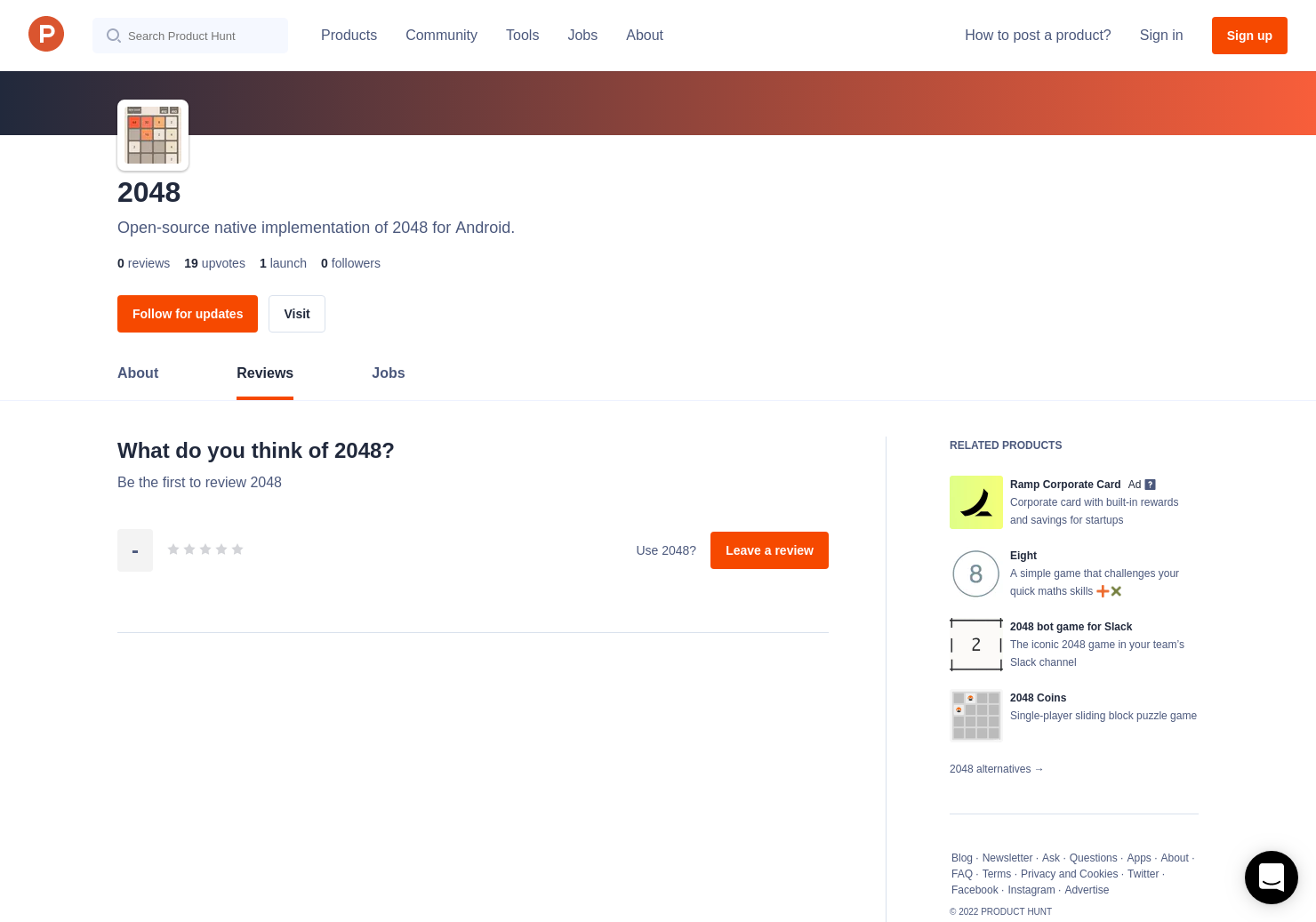 2048 Reviews - Pros, Cons and Rating   Product Hunt