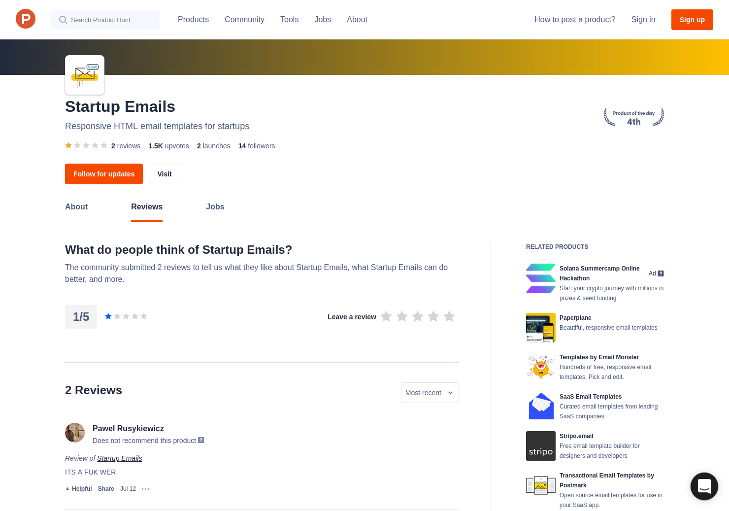 Saas Email Templates Reviews Pros Cons And Rating Product Hunt
