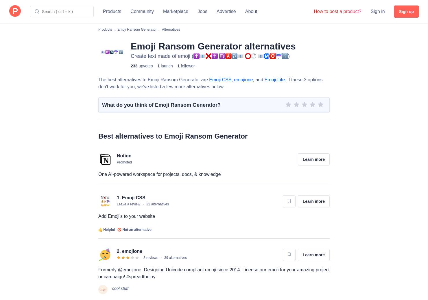 4 Alternatives to Emoji Ransom Generator | Product Hunt
