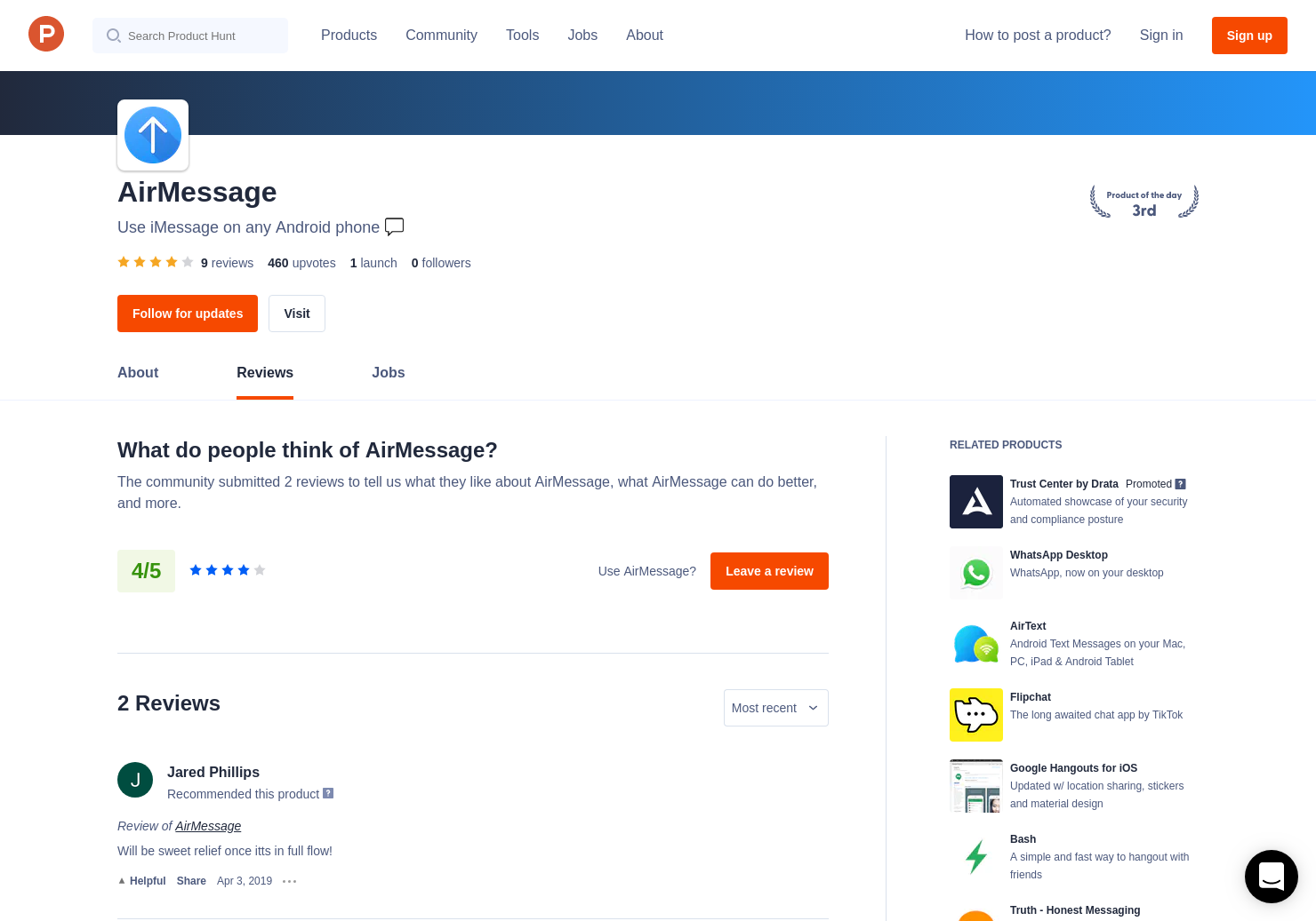 8 AirMessage Reviews - Pros, Cons and Rating | Product Hunt