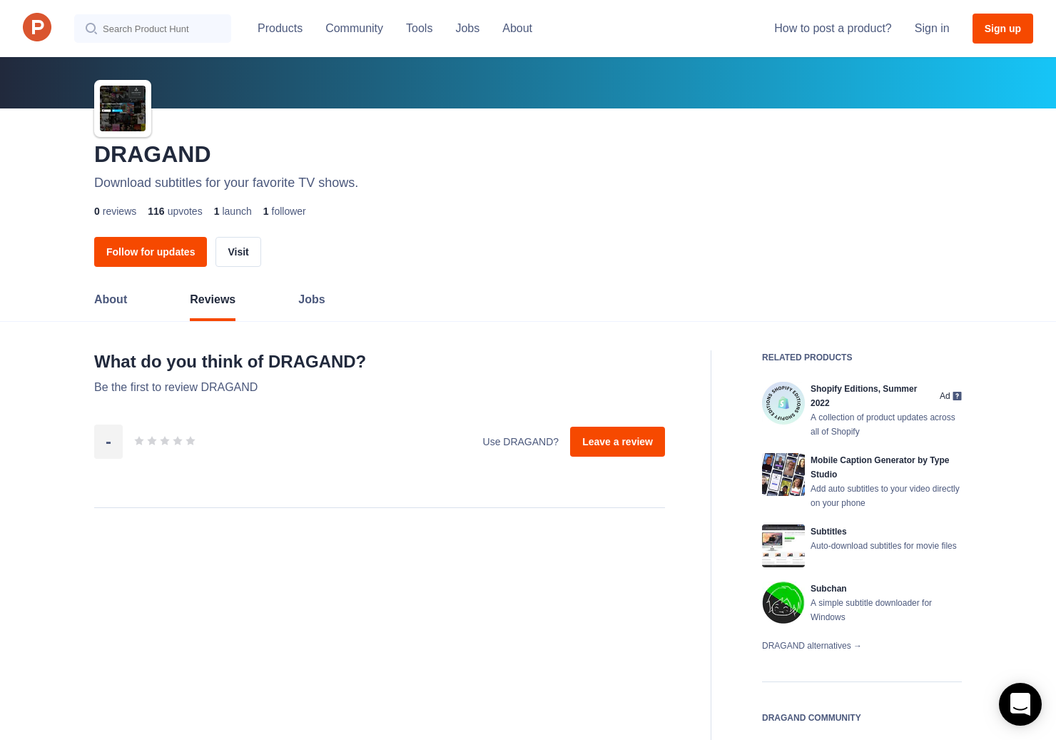 DRAGAND Reviews - Pros, Cons and Rating | Product Hunt
