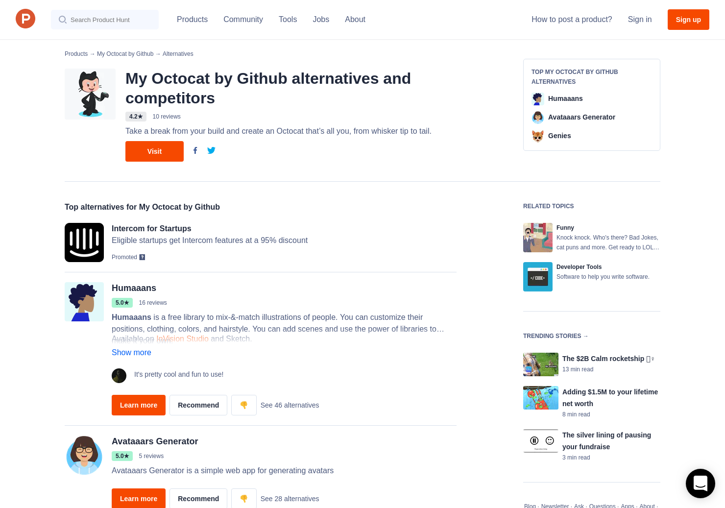 13 Alternatives to My Octocat by Github | Product Hunt
