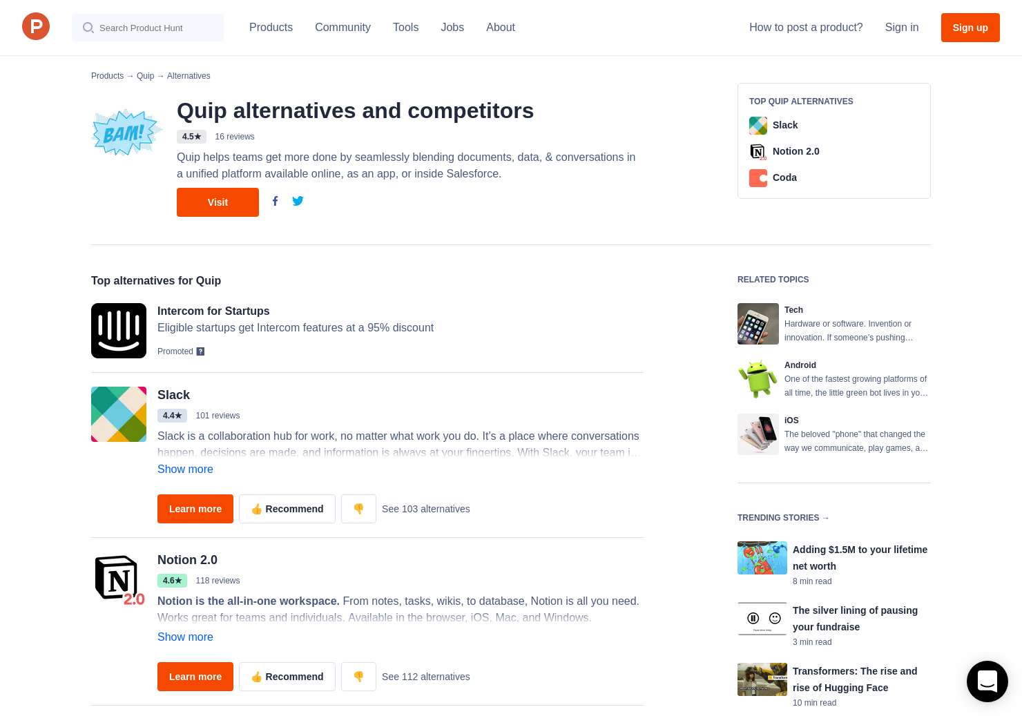 1 Alternatives to Quip 2 0 | Product Hunt