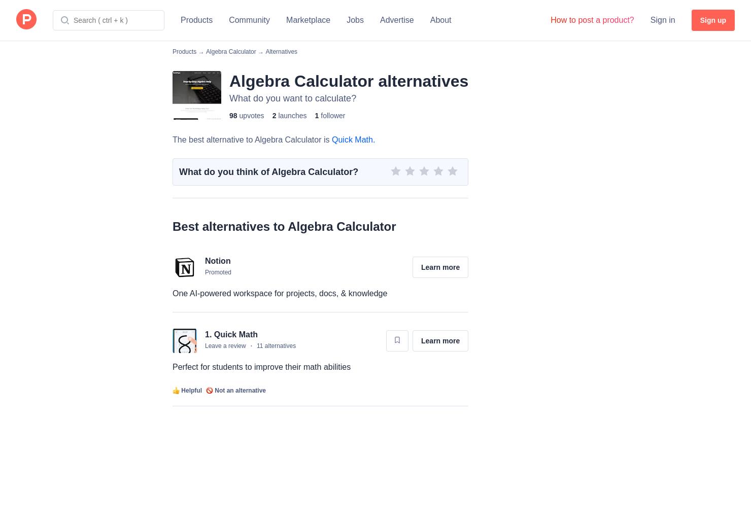 3 Alternatives to MathPapa - Product Hunt