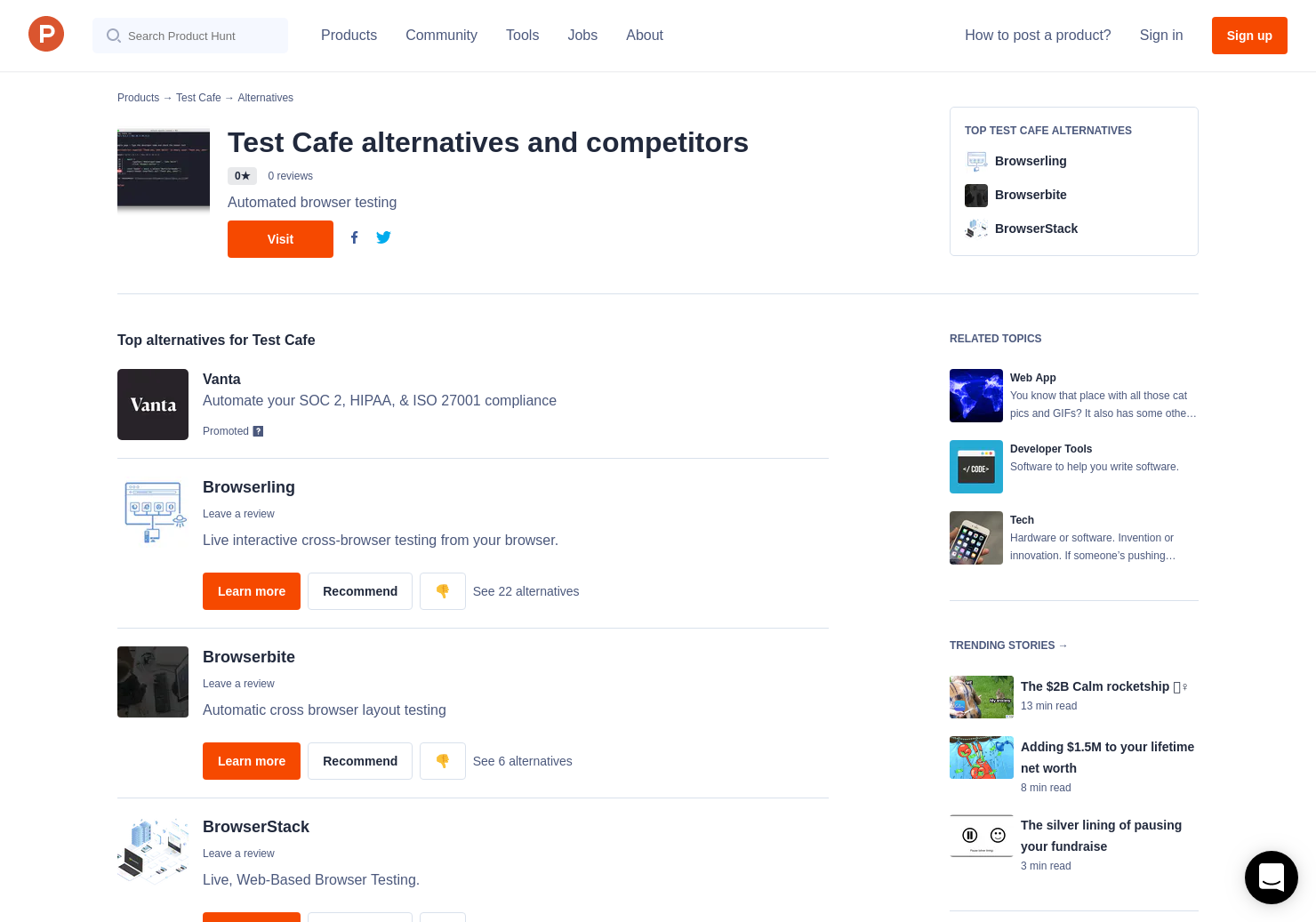5 Alternatives to Test Cafe | Product Hunt