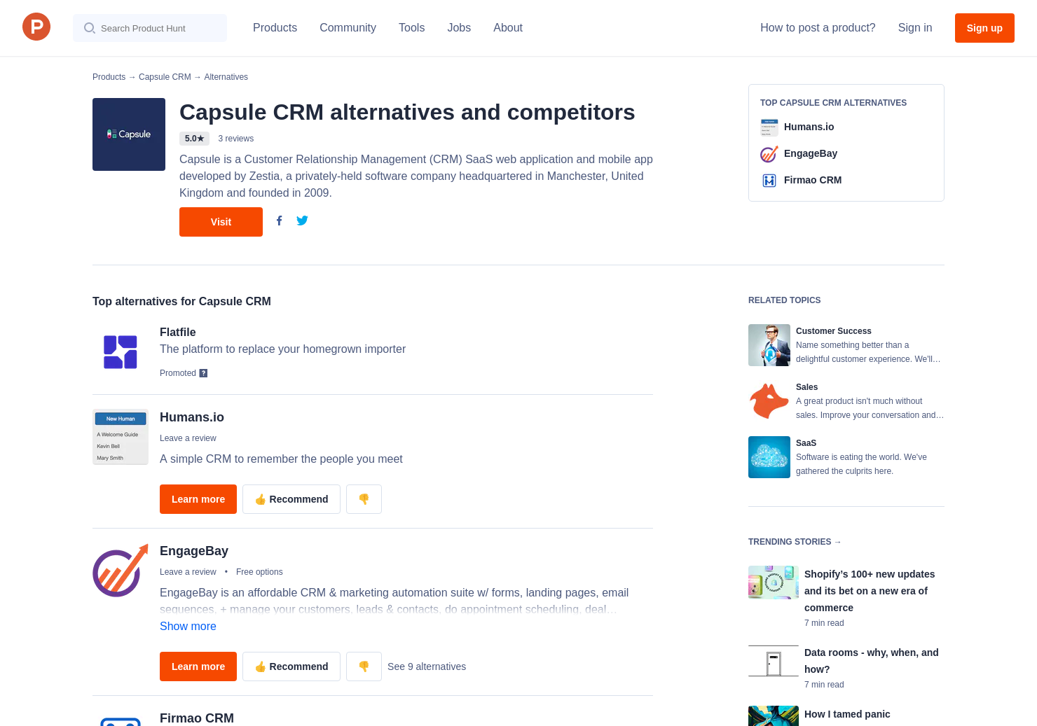 3 Alternatives to Capsule CRM | Product Hunt