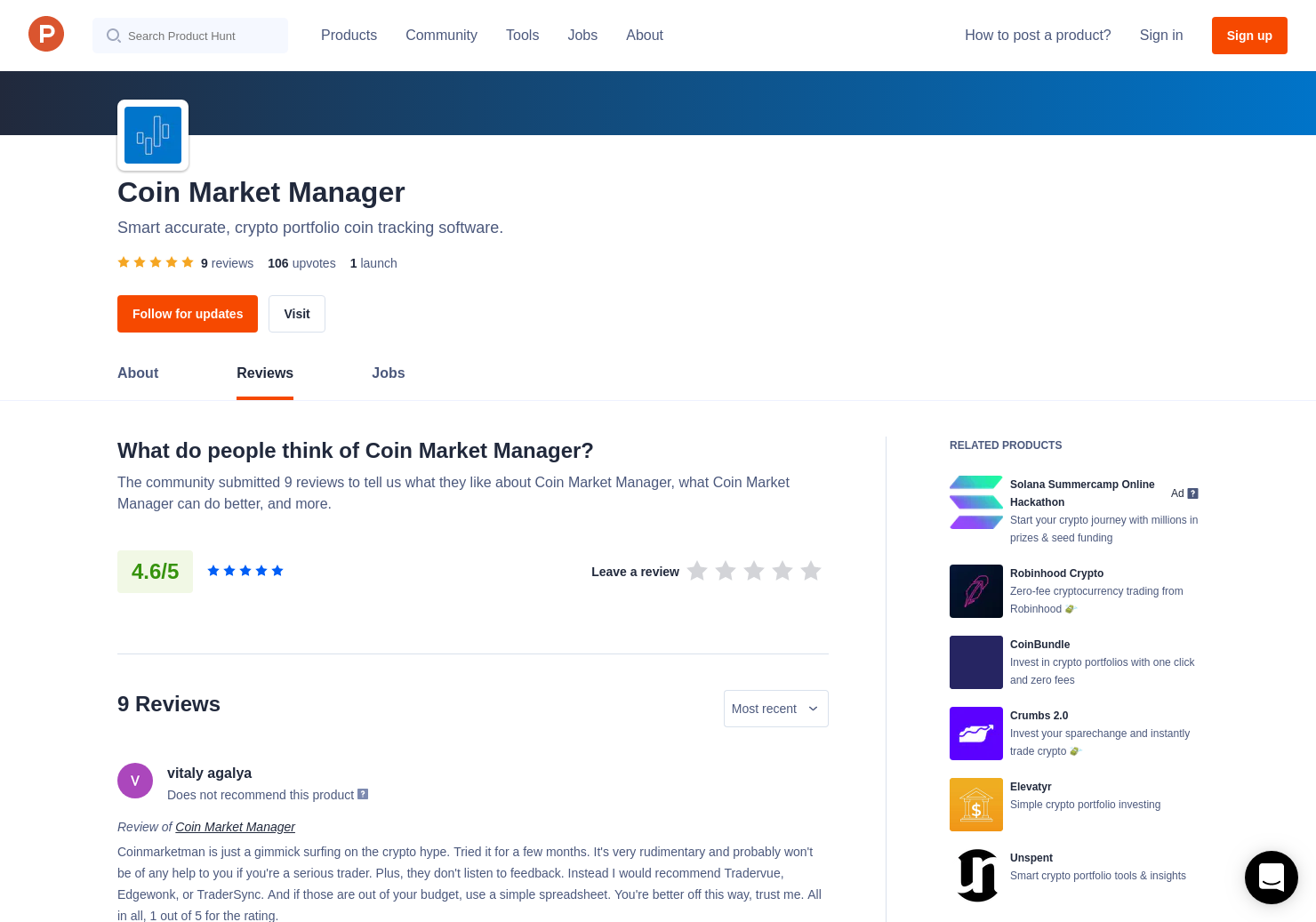 8 Coin Market Manager Reviews - Pros, Cons and Rating | Product Hunt