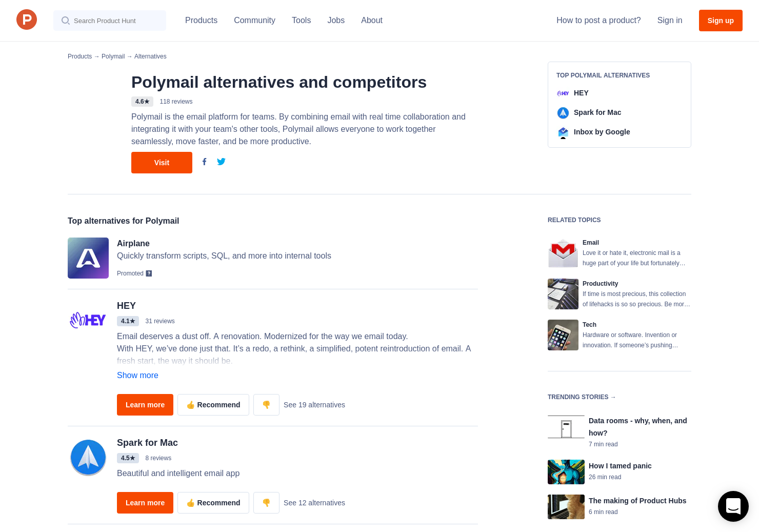 32 Alternatives to Polymail   Product Hunt