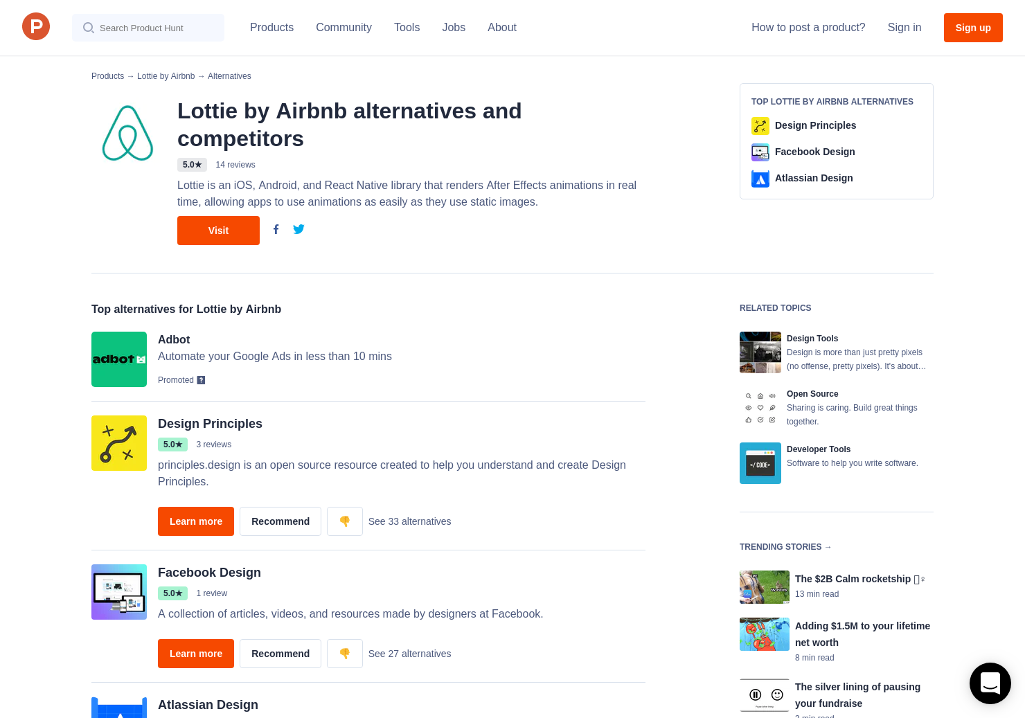 11 Alternatives to Lottie by Airbnb | Product Hunt