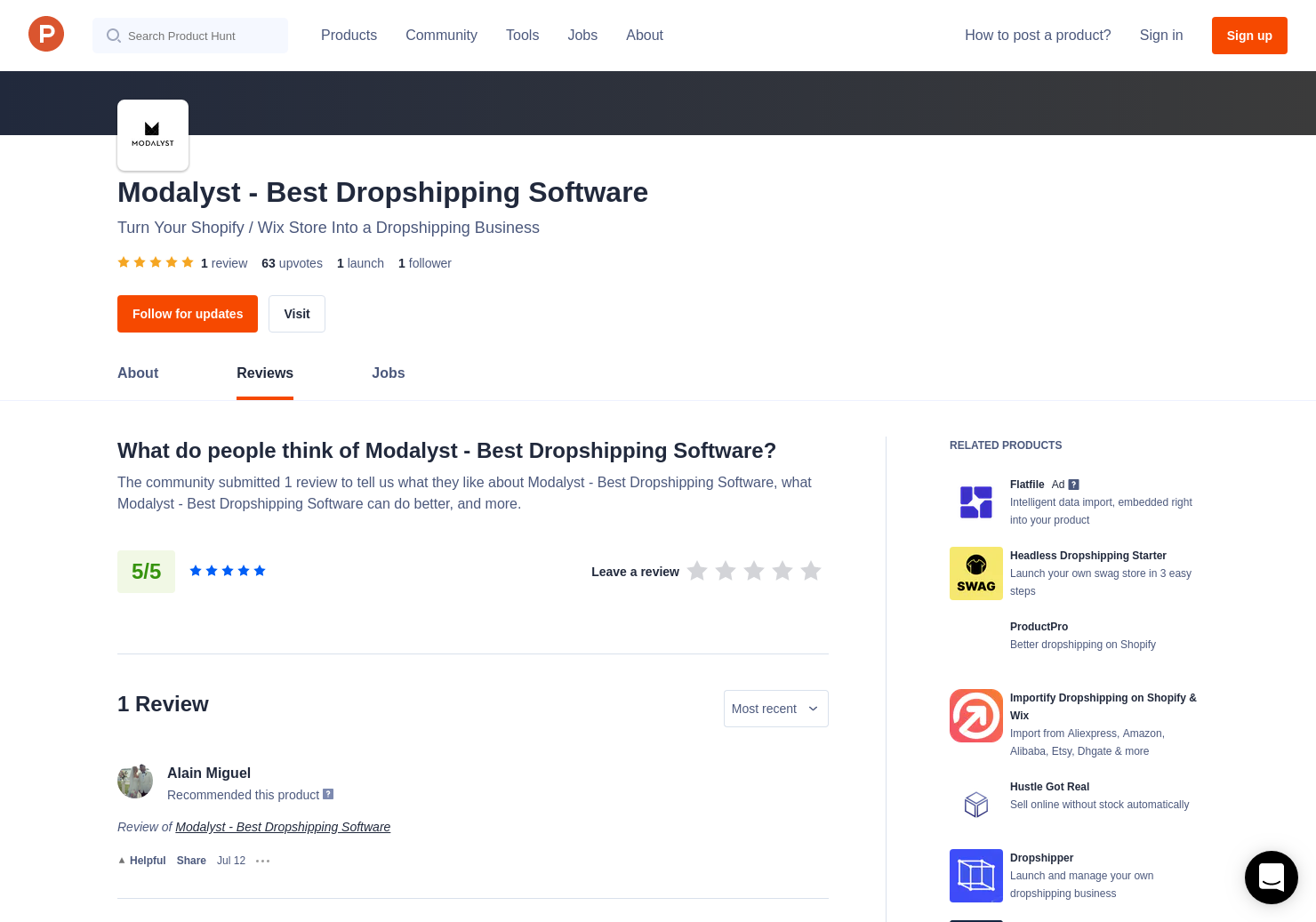 Modalyst Reviews - Pros, Cons and Rating | Product Hunt