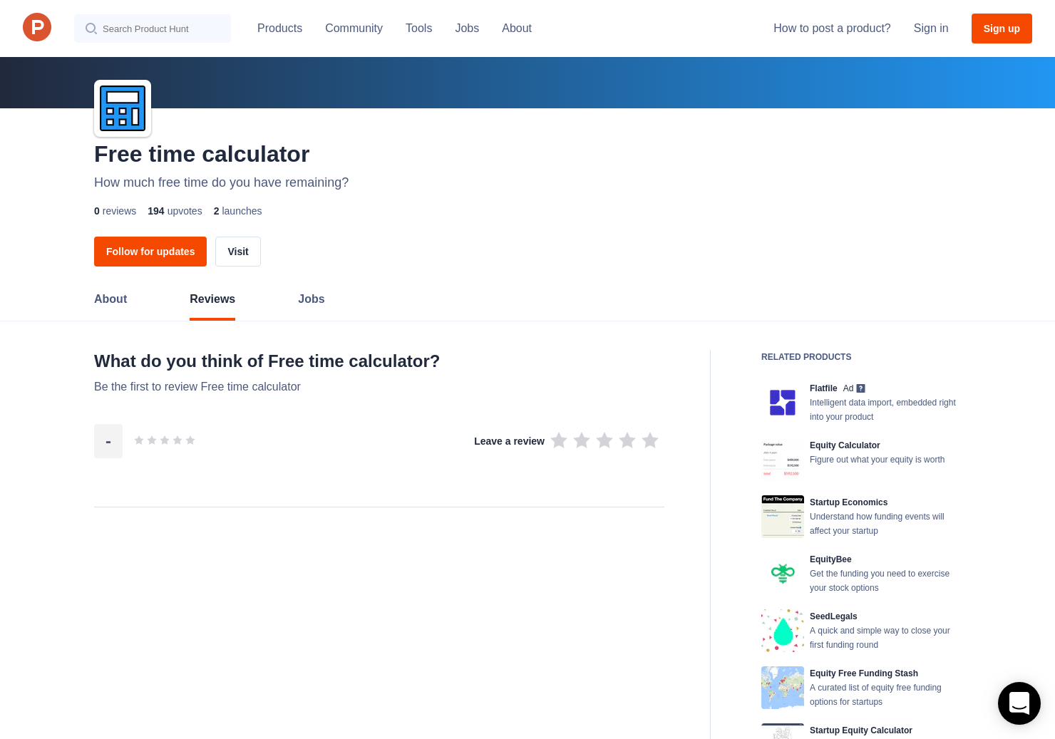 free time calculator reviews pros cons and rating product hunt