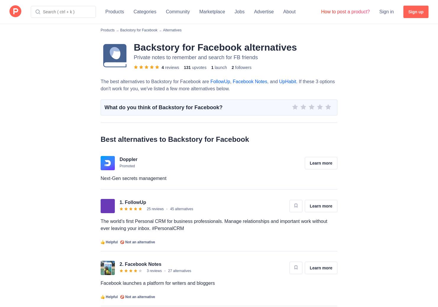 7 Alternatives to Backstory for Facebook for Chrome