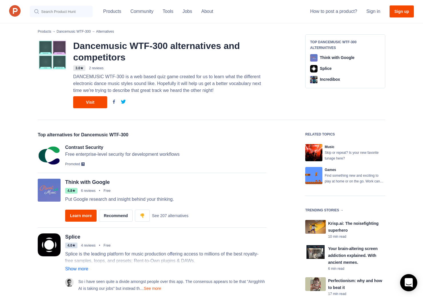 8 Alternatives to Dancemusic WTF-300 | Product Hunt