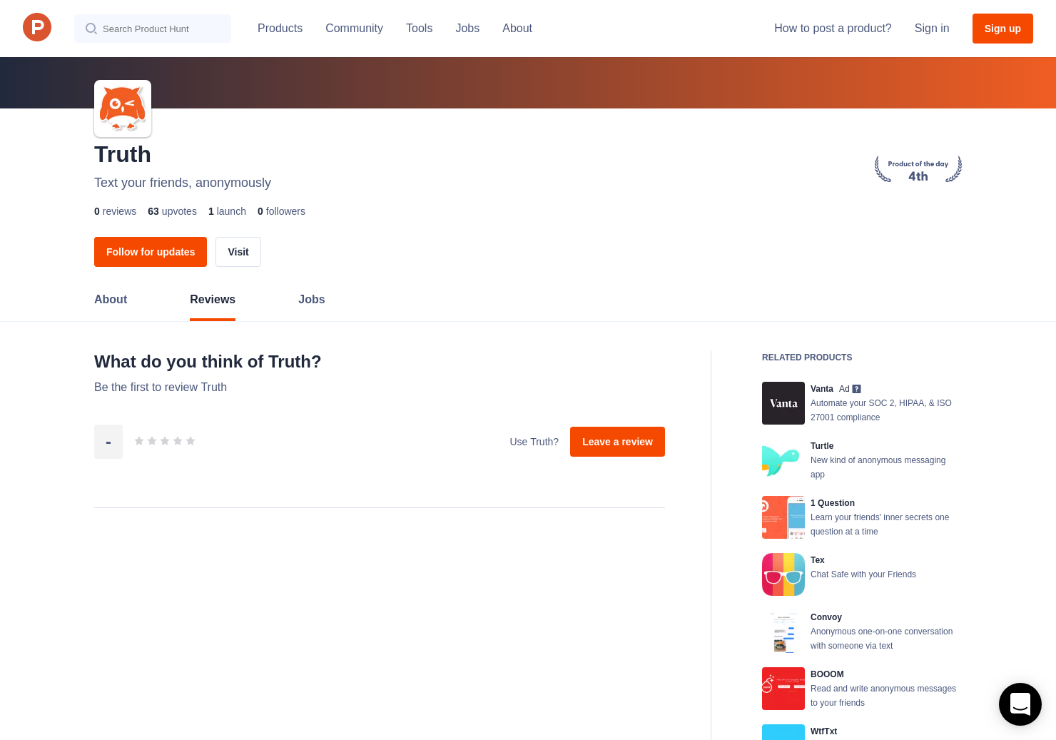 Truth Reviews - Pros, Cons and Rating | Product Hunt