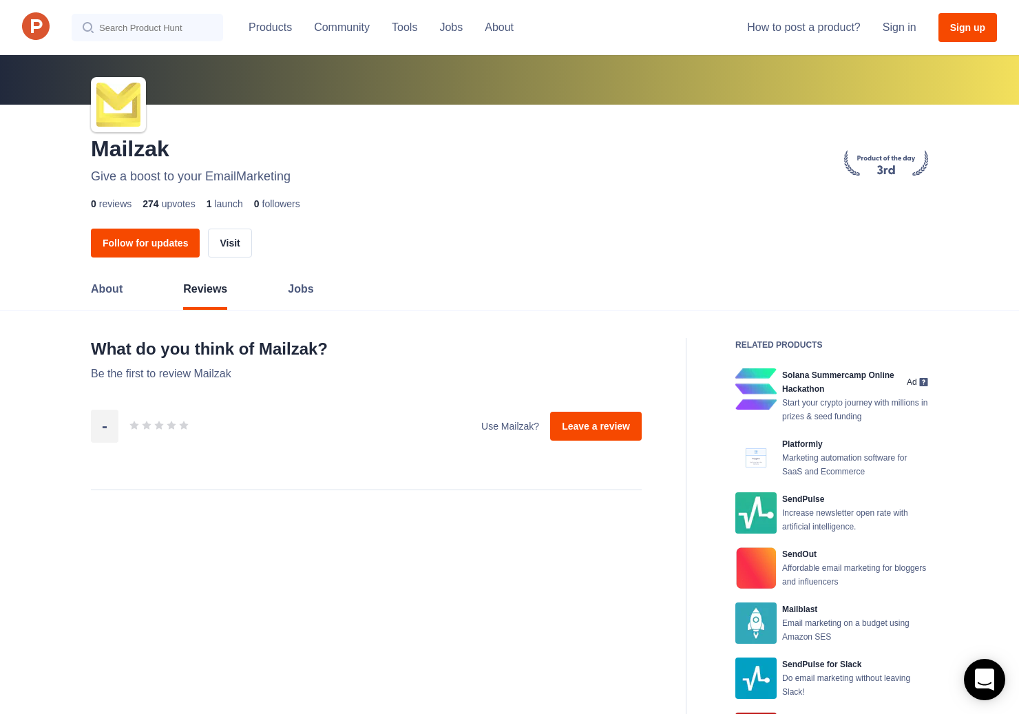 MailZak Reviews - Pros, Cons and Rating | Product Hunt