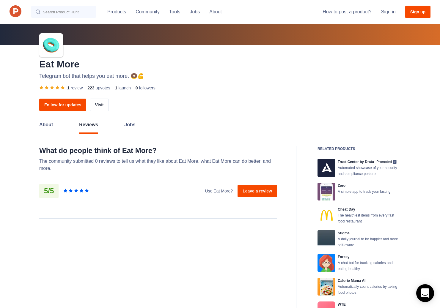 1 Eat More Reviews - Pros, Cons and Rating | Product Hunt