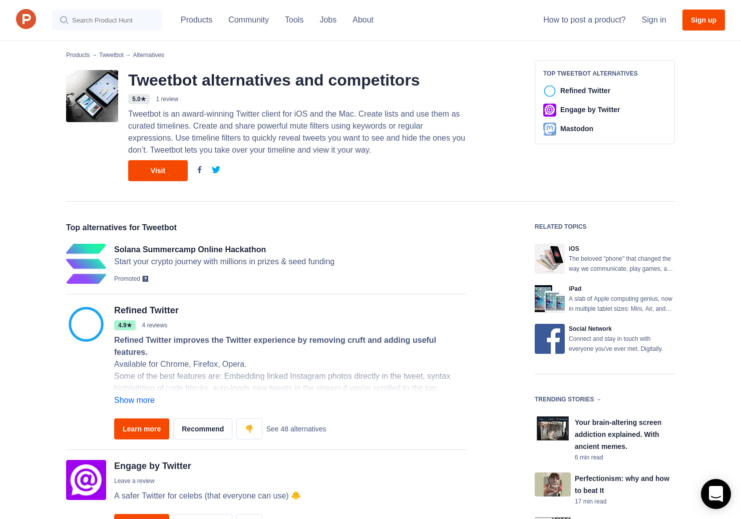 14 Alternatives to Tweetbot 4 for iPhone, iPad | Product Hunt
