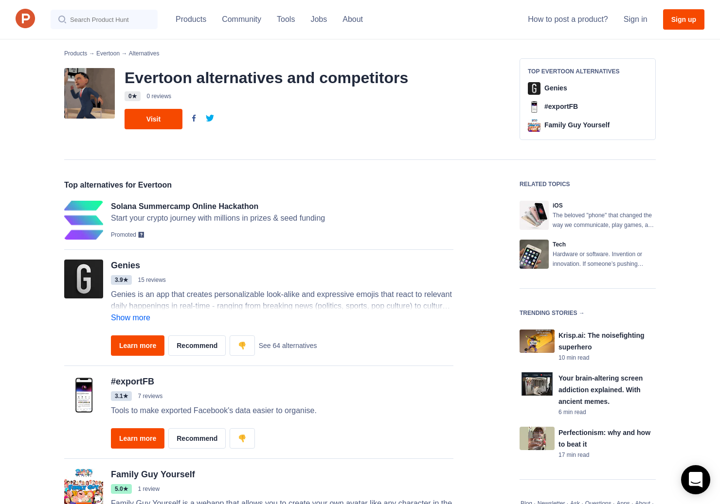 8 Alternatives to Evertoon for iPhone | Product Hunt