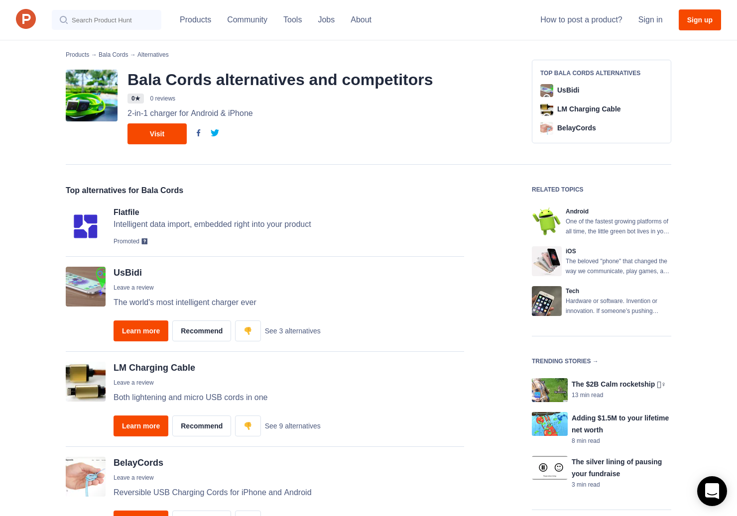 3 alternatives to bala cords product hunt