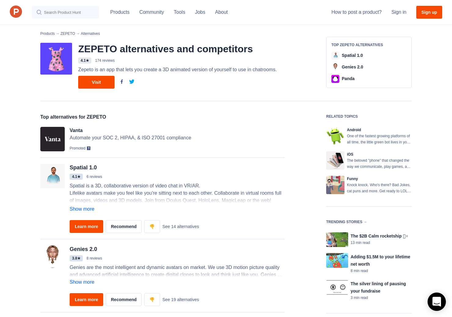 5 Alternatives to Zepeto for Android, iPhone | Product Hunt