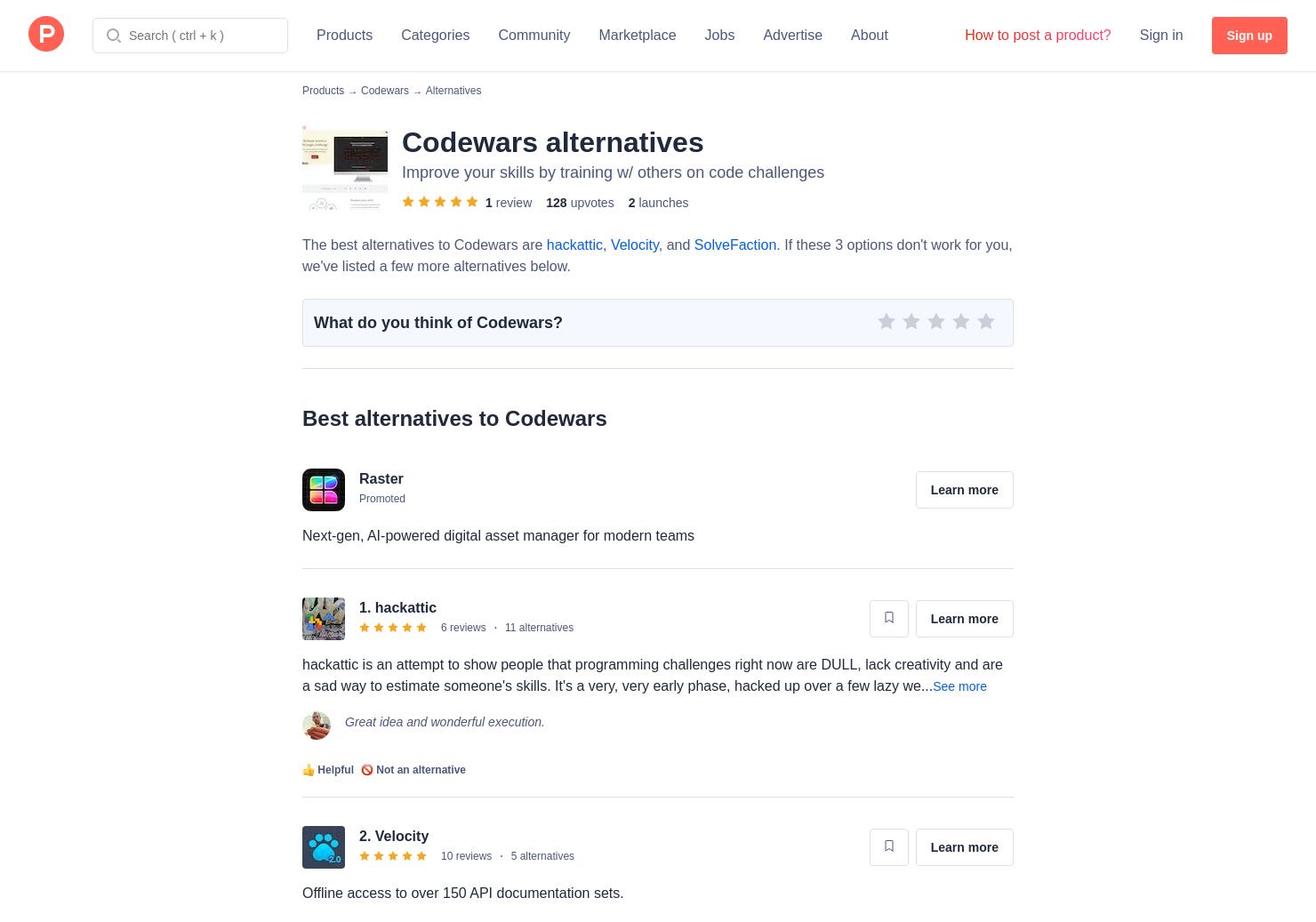 7 Alternatives to Codewars | Product Hunt