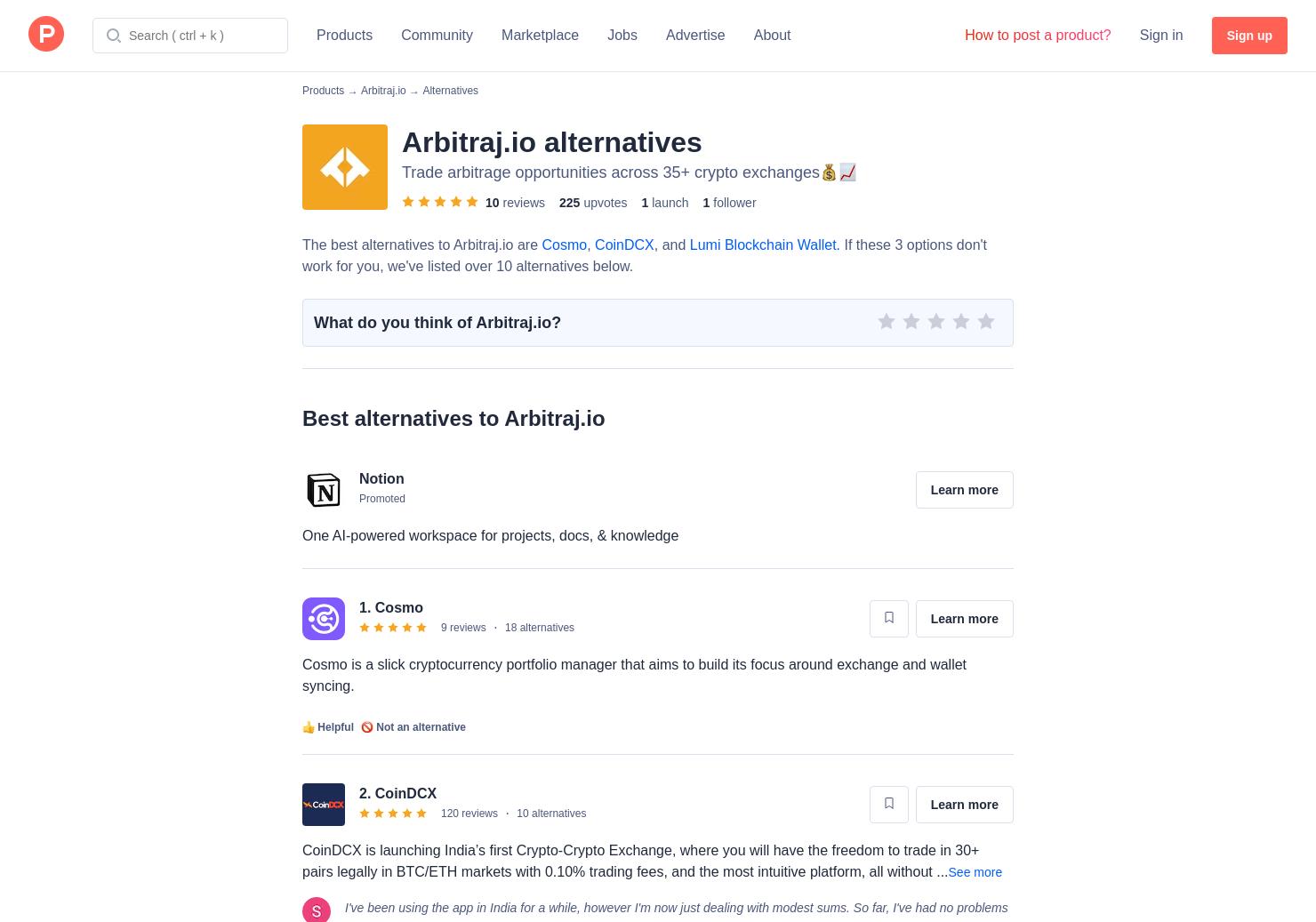 10 Alternatives to Arbitraj io | Product Hunt