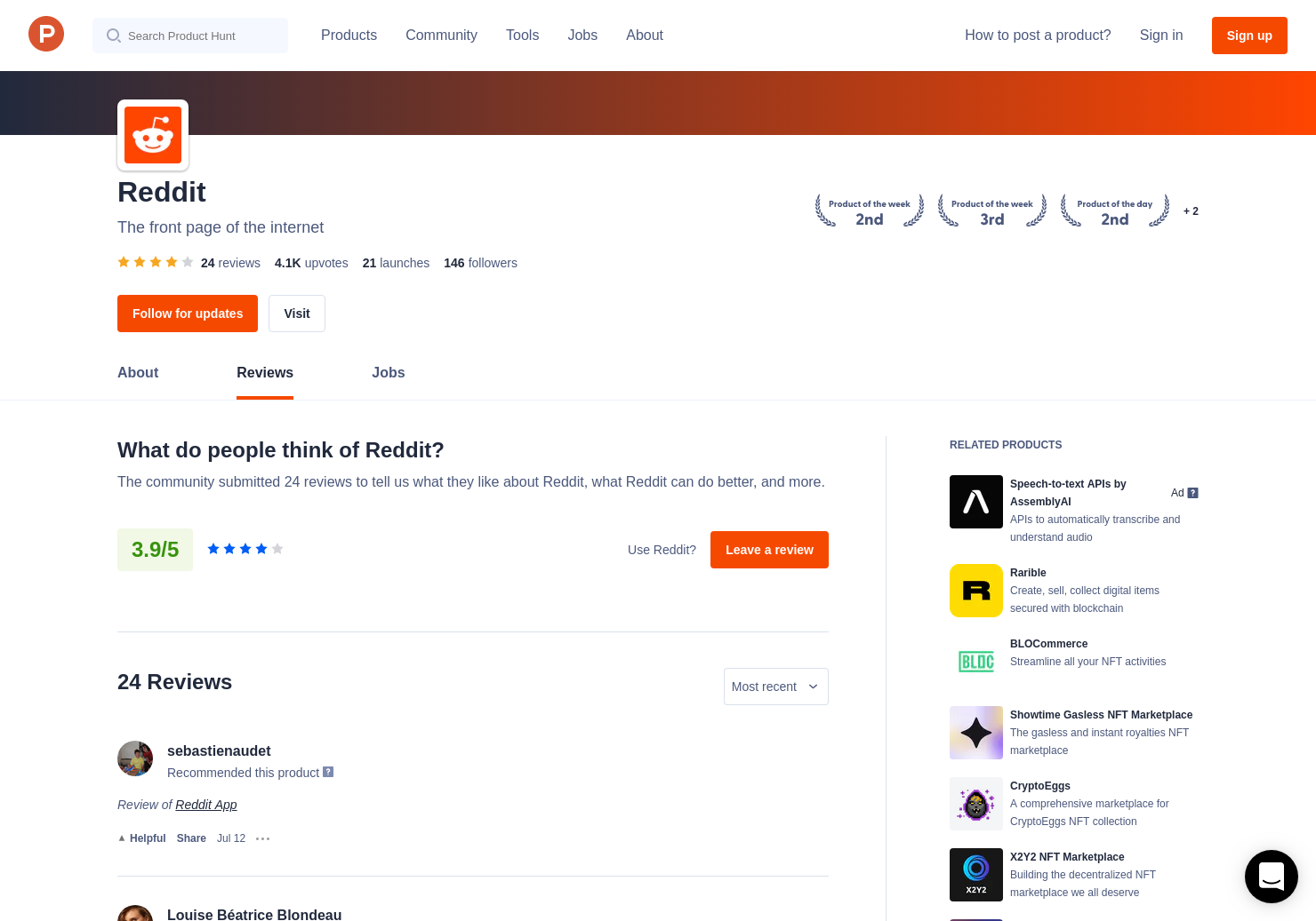 Upvoted Weekly Reviews - Pros, Cons and Rating | Product Hunt