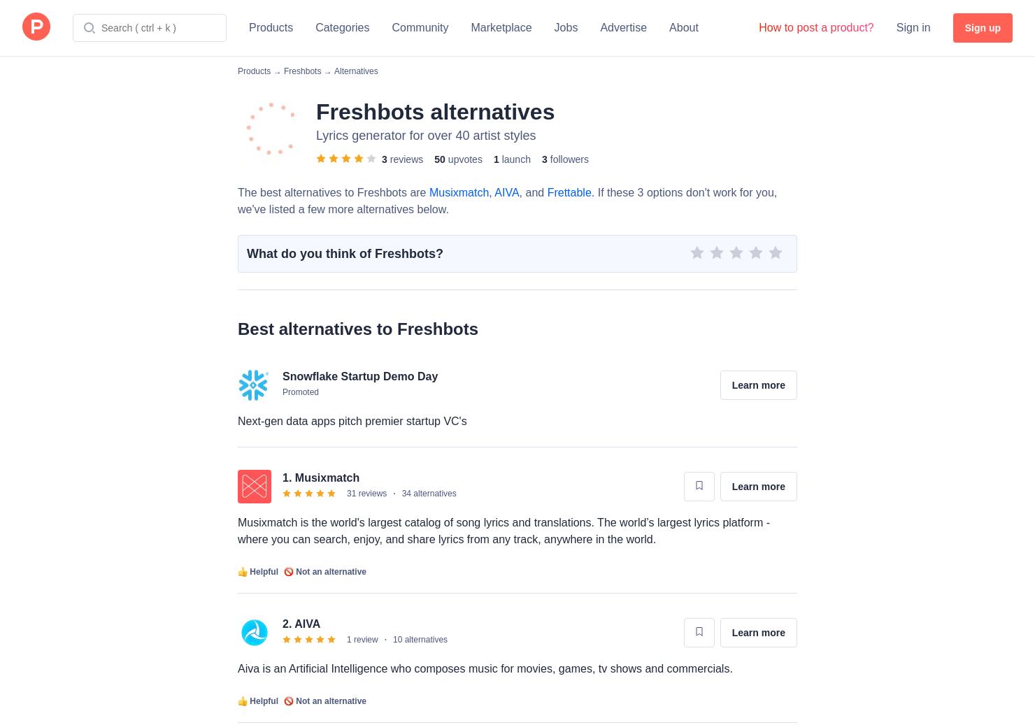 5 Alternatives to Freshbots | Product Hunt