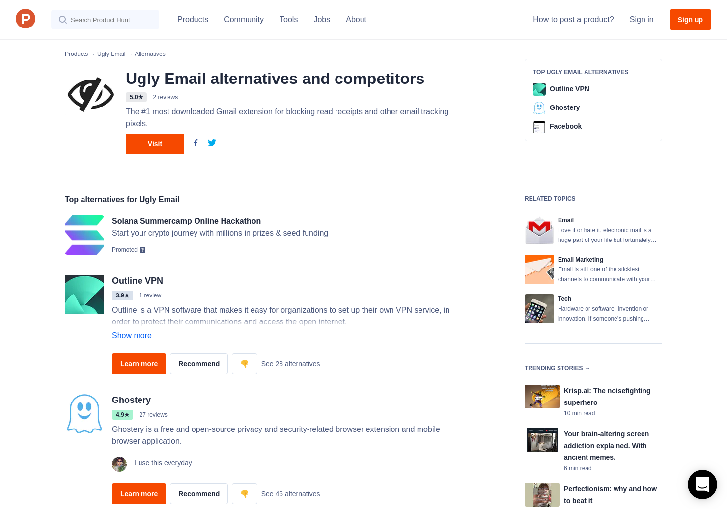 7 Alternatives to Ugly Email | Product Hunt