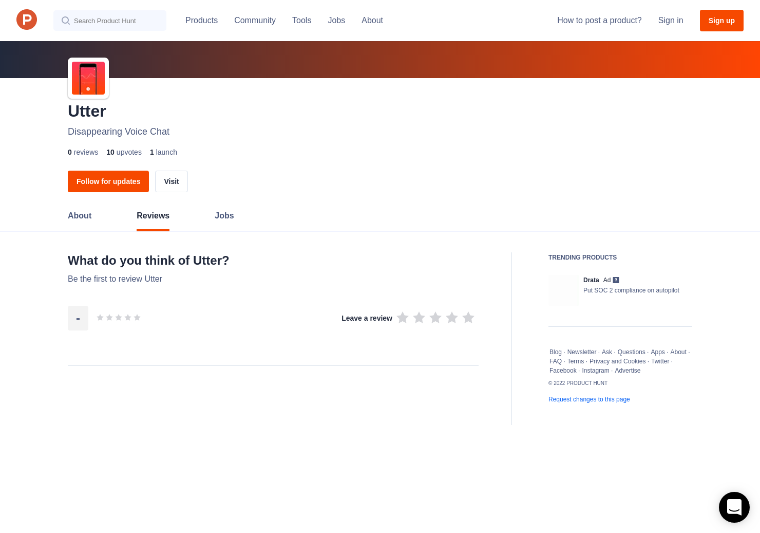 Utter Reviews - Pros, Cons and Rating | Product Hunt