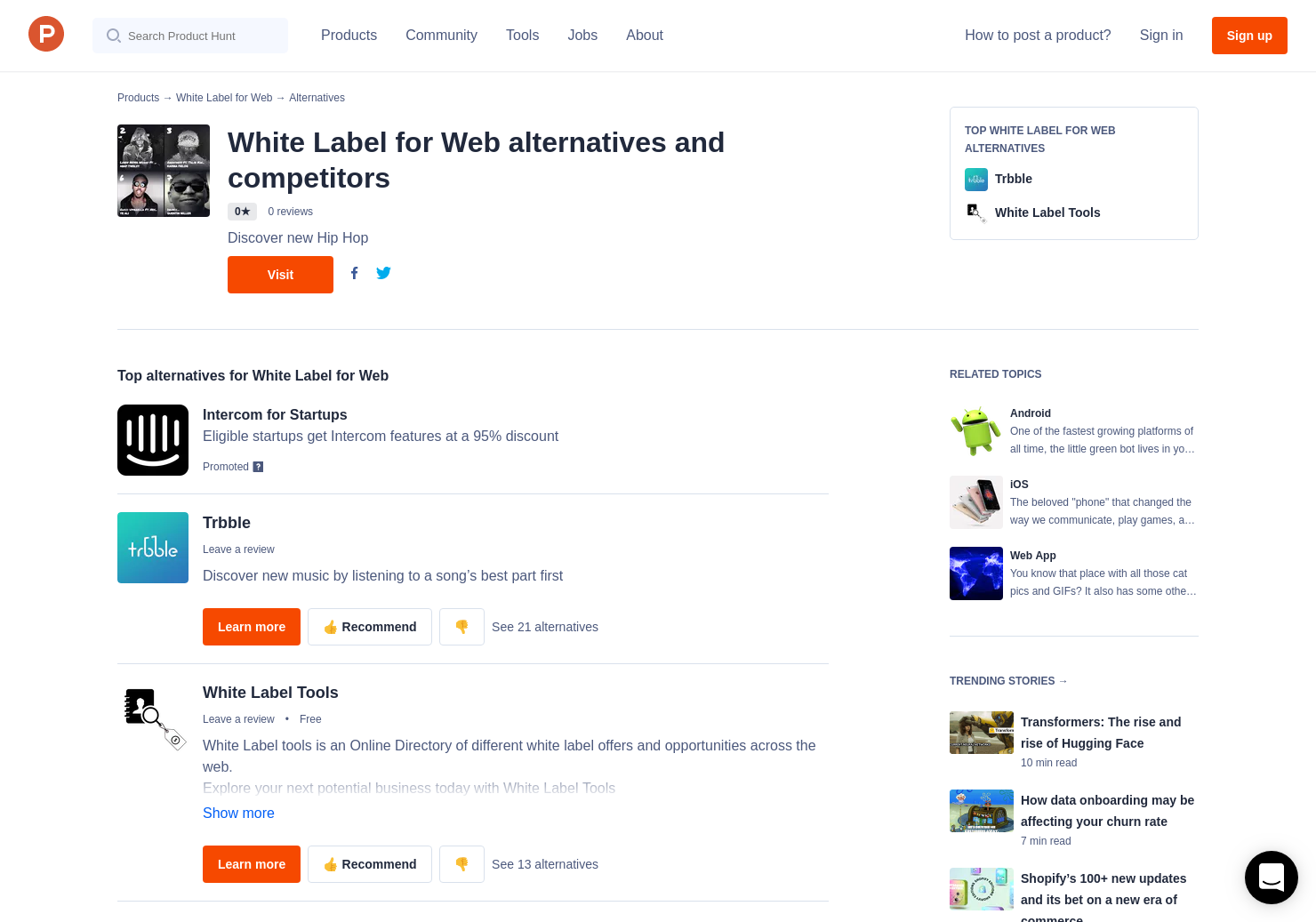 1 Alternatives to White Label for Web for Android, iPhone | Product Hunt