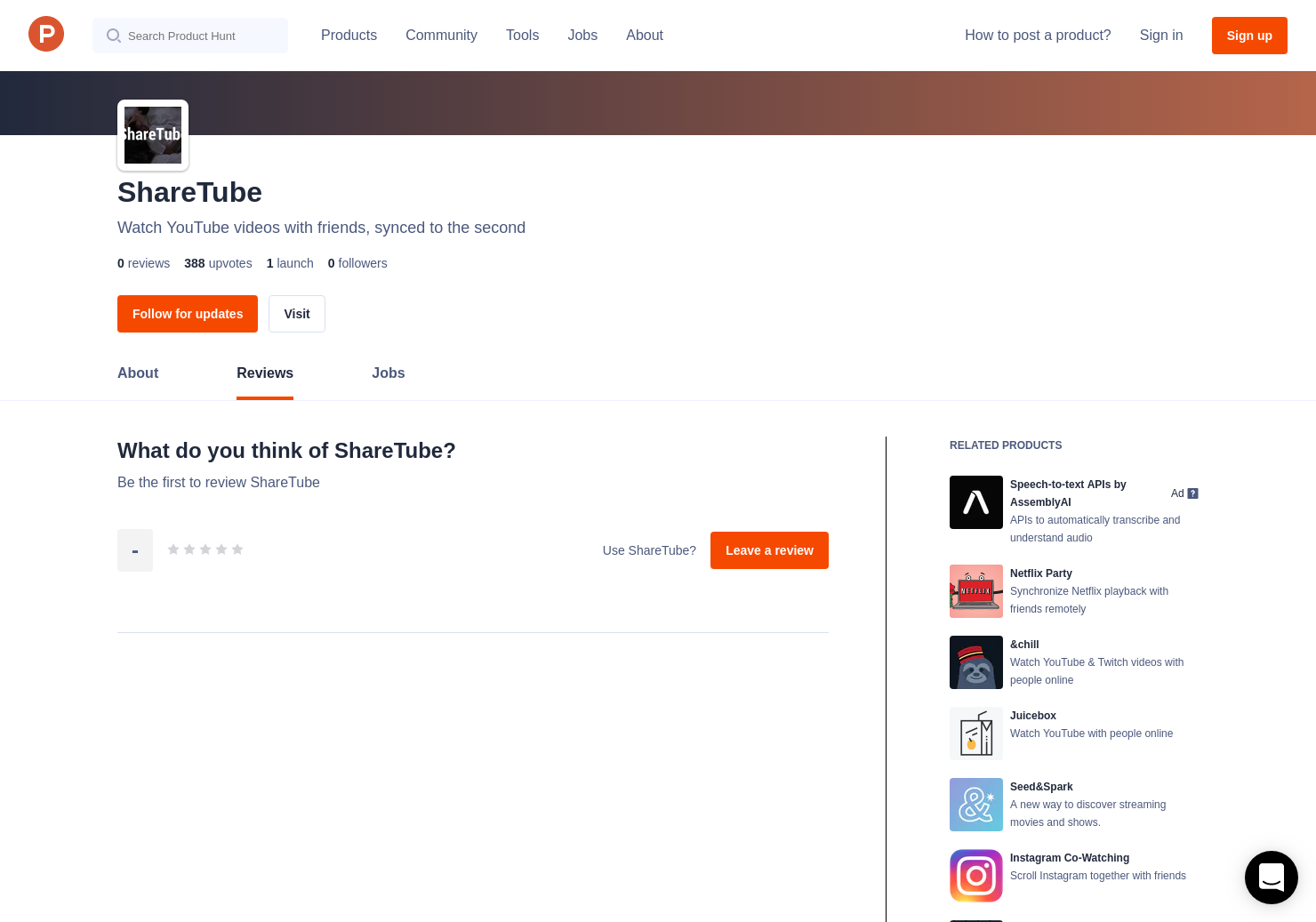 ShareTube Reviews - Pros, Cons and Rating | Product Hunt