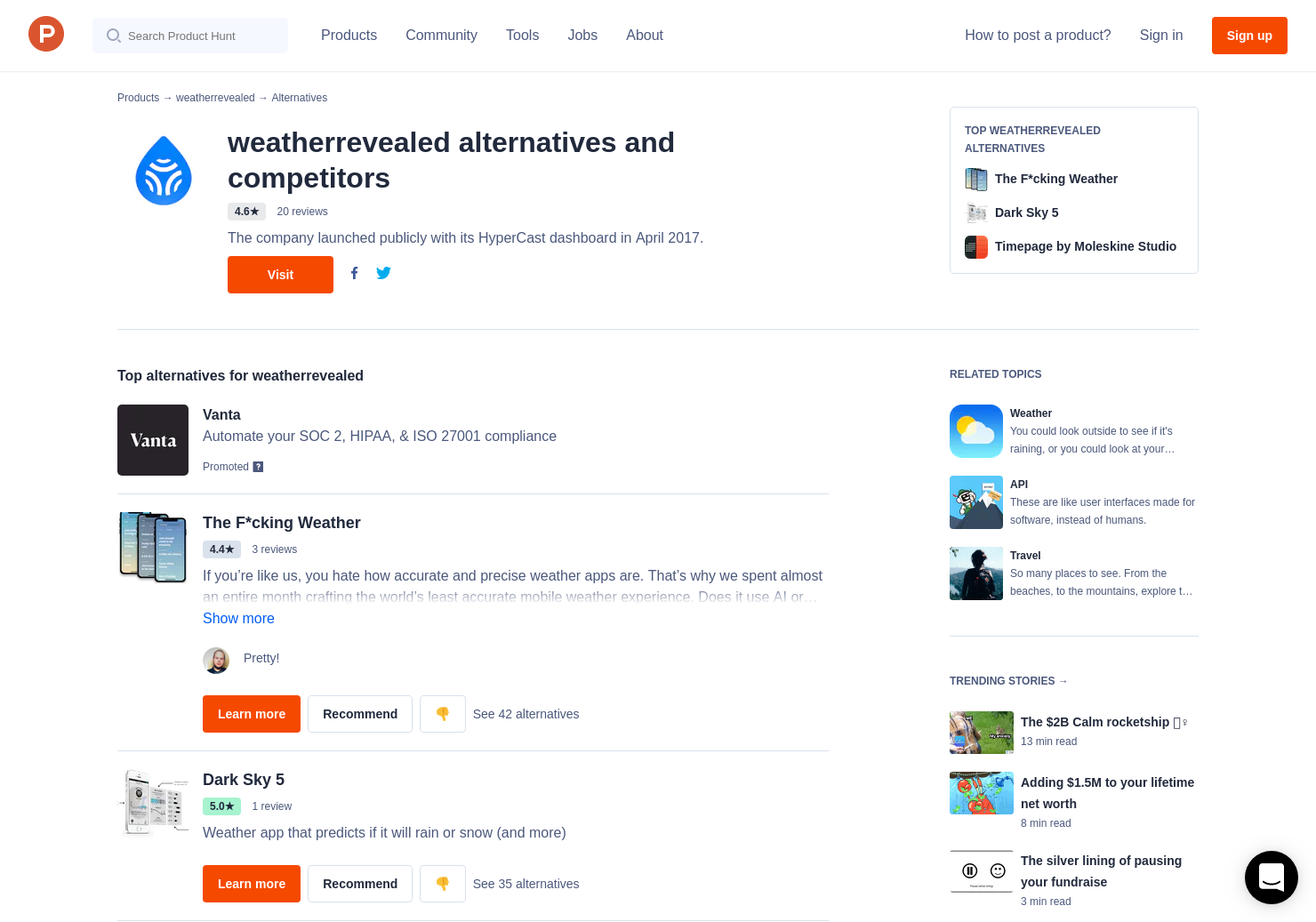 10 Alternatives to ClimaCell Micro Weather API | Product Hunt