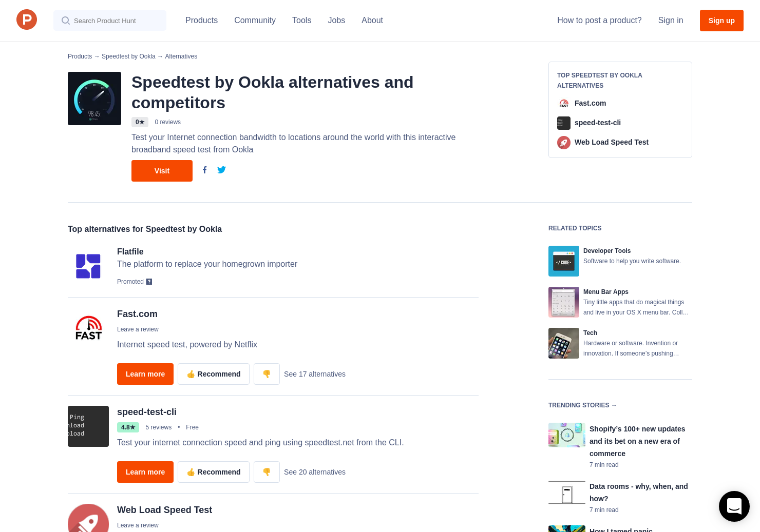 4 Alternatives to Speedtest by Ookla, for Mac | Product Hunt