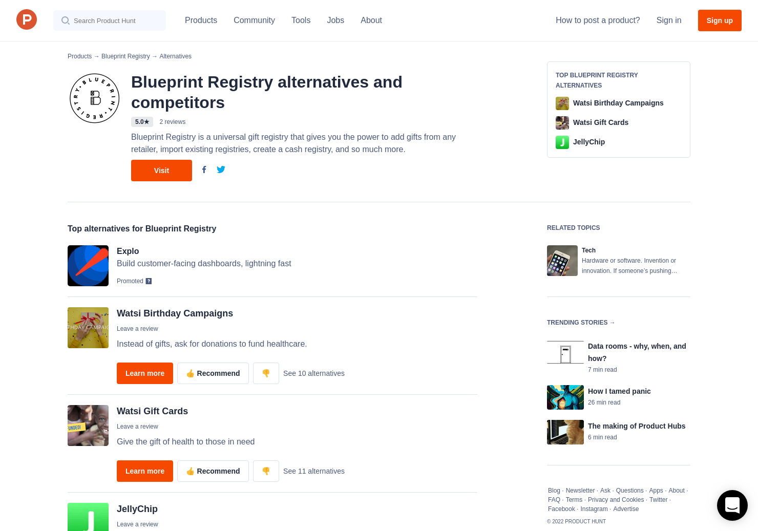 4 alternatives to blueprint registry product hunt malvernweather Image collections