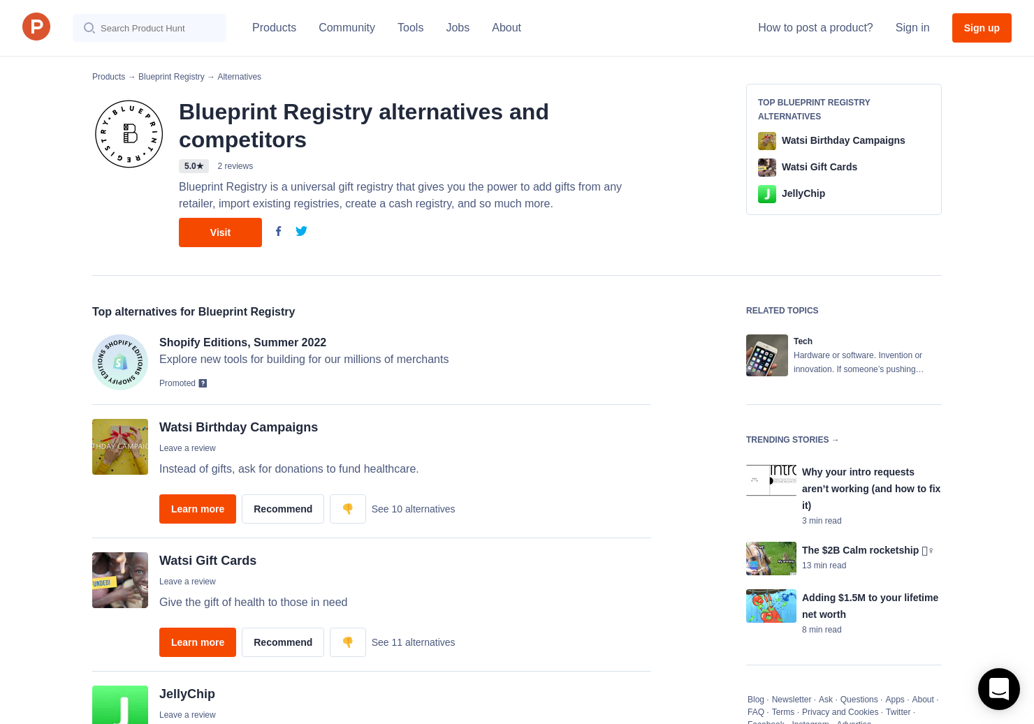 4 alternatives to blueprint registry product hunt malvernweather Gallery