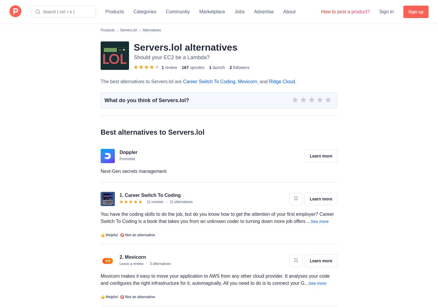 6 Alternatives to Servers lol | Product Hunt