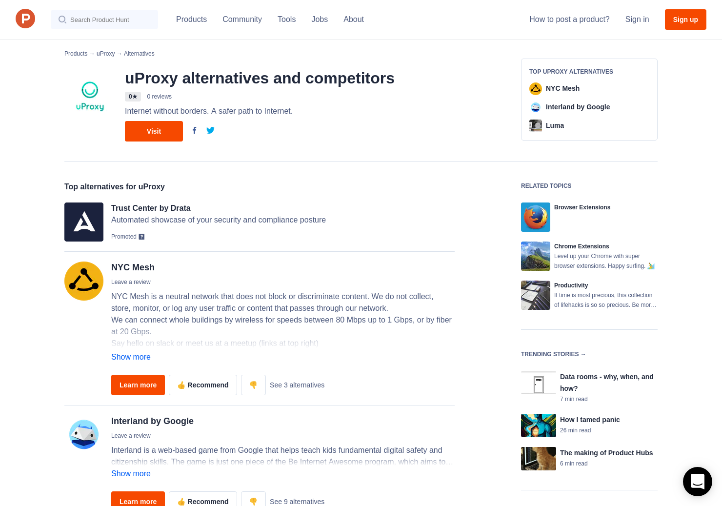 6 Alternatives to uProxy for Chrome Extensions | Product Hunt