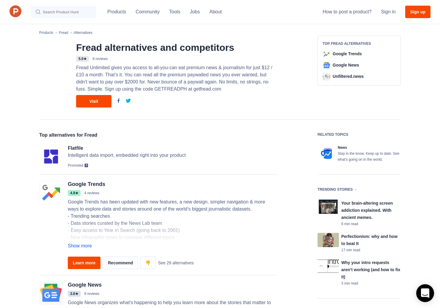 11 Alternatives to Fread | Product Hunt
