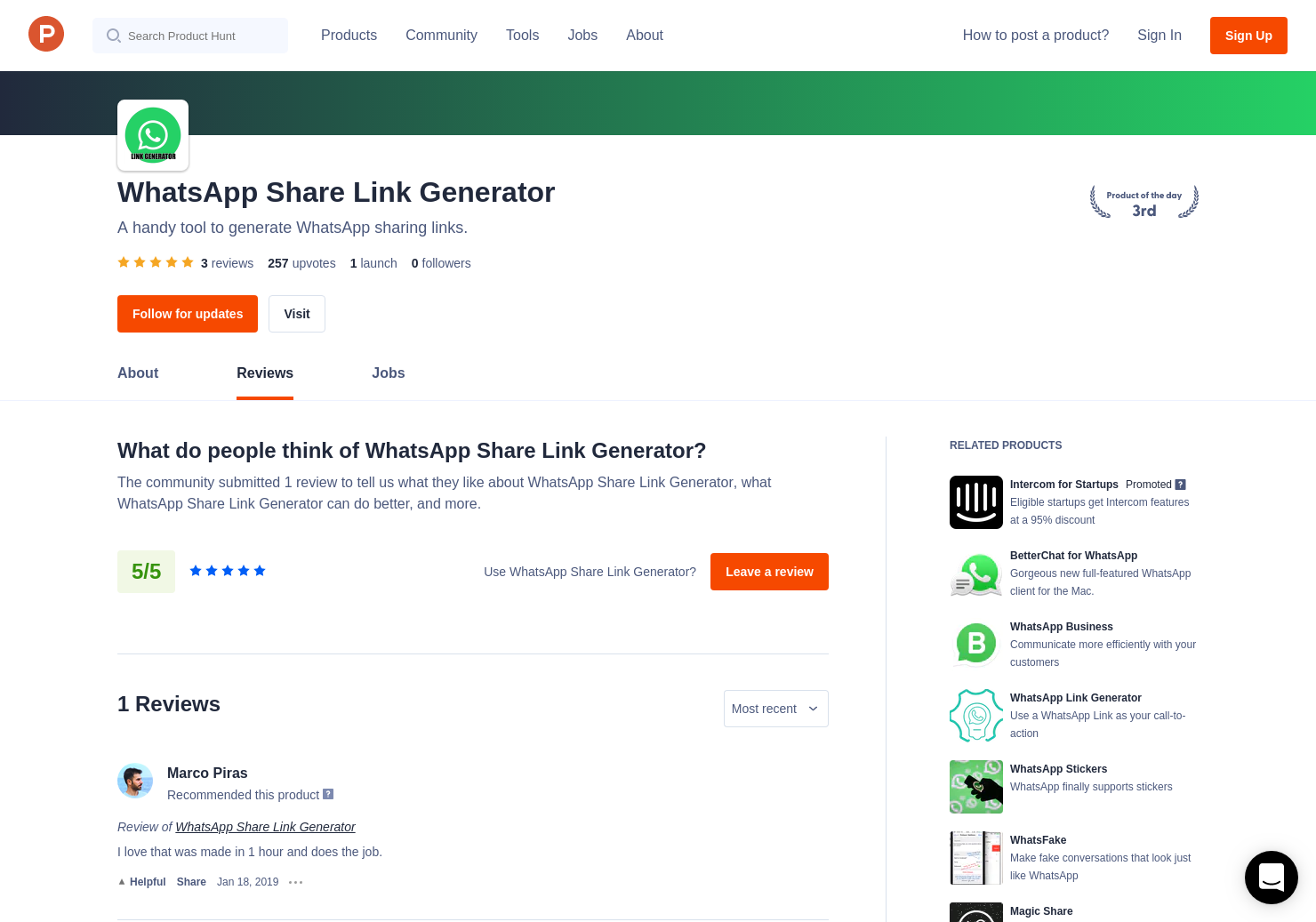 3 WhatsApp Share Link Generator Reviews - Pros, Cons and