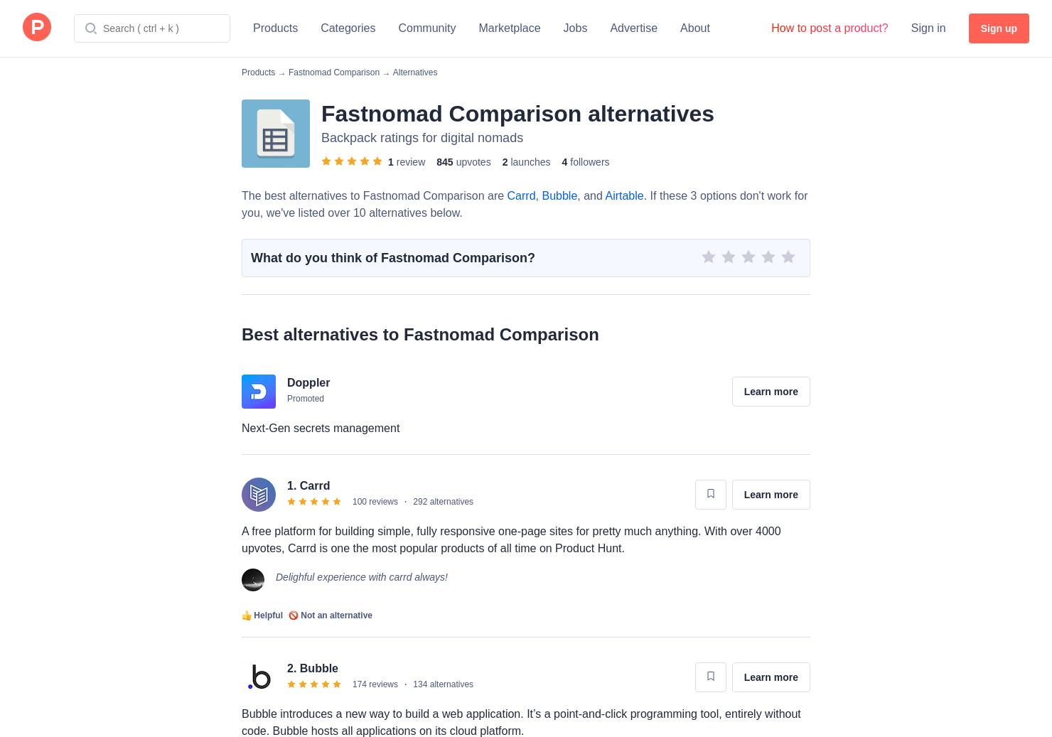 11 Alternatives to Tabledo | Product Hunt