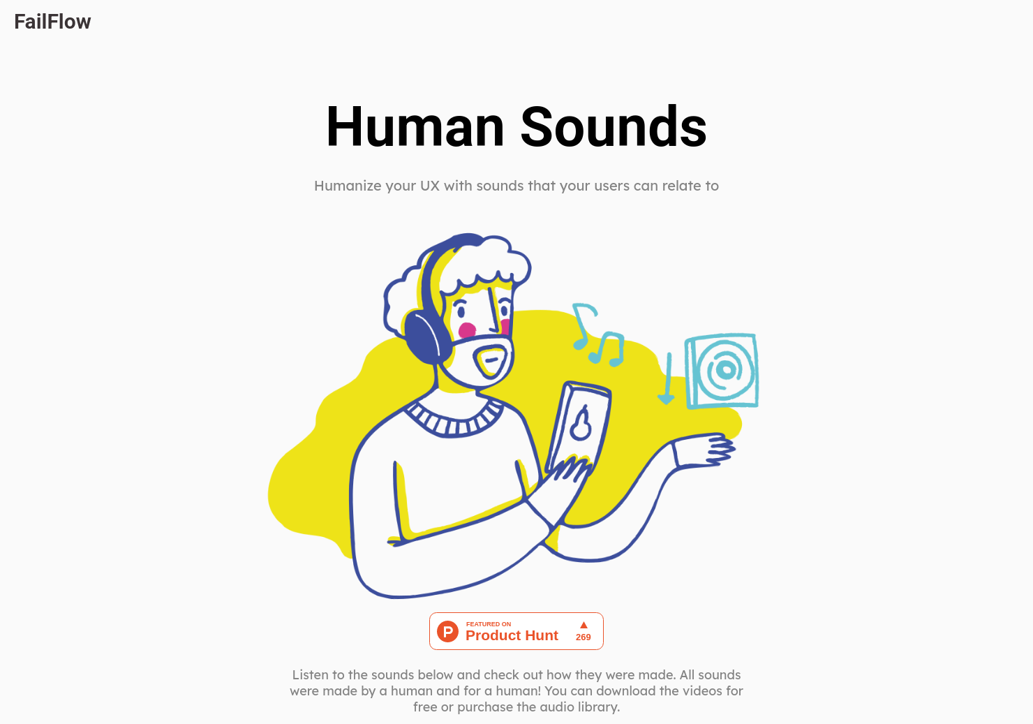 Human UX Sounds