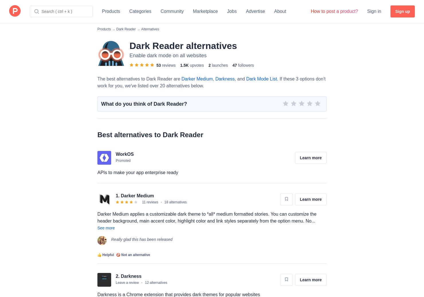 8 Alternatives to Dark Reader for Chrome Extensions
