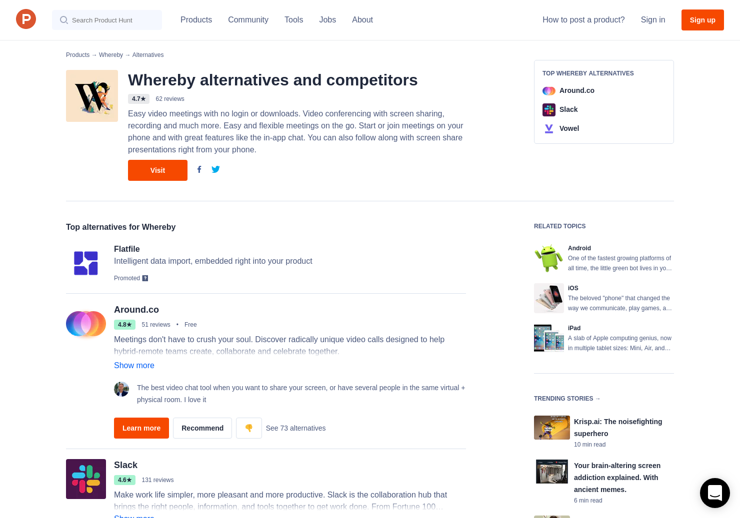 4 Alternatives to appear in for Android, iPhone, iPad   Product Hunt