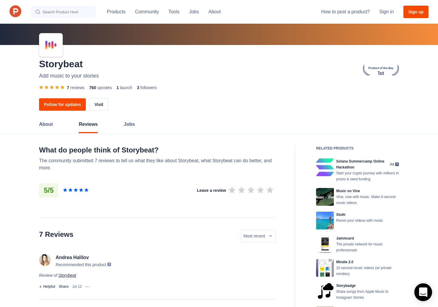 7 Storybeat Reviews - Pros, Cons and Rating | Product Hunt