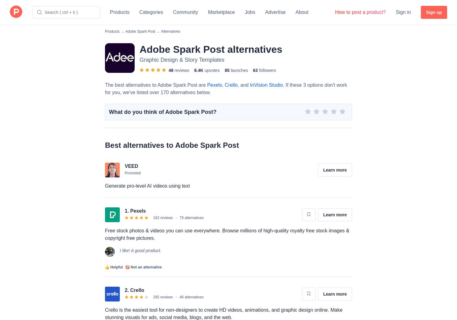 14 Alternatives to Adobe Spark | Product Hunt