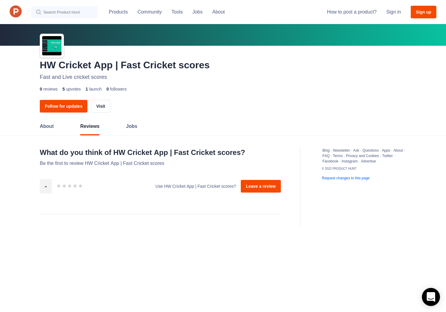 HW Cricket App | Fast Cricket scores Reviews - Pros, Cons and Rating